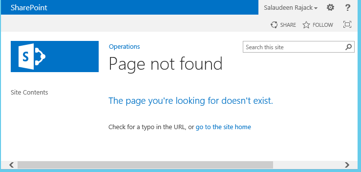 sharepoint custom 404 error page