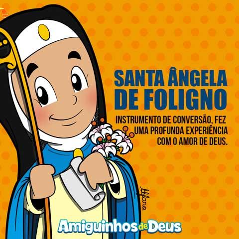 Santa Ângela de Foligno desenho