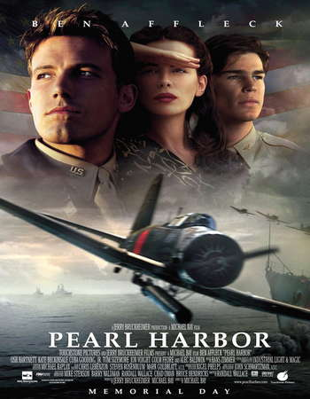 Poster Of Pearl Harbor 2001 Dual Audio 650MB BRRip 720p ESubs HEVC Free Download Watch Online downloadhub.in