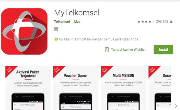 aplikasi my telkomsel bisa juga untuk mengecek nomor