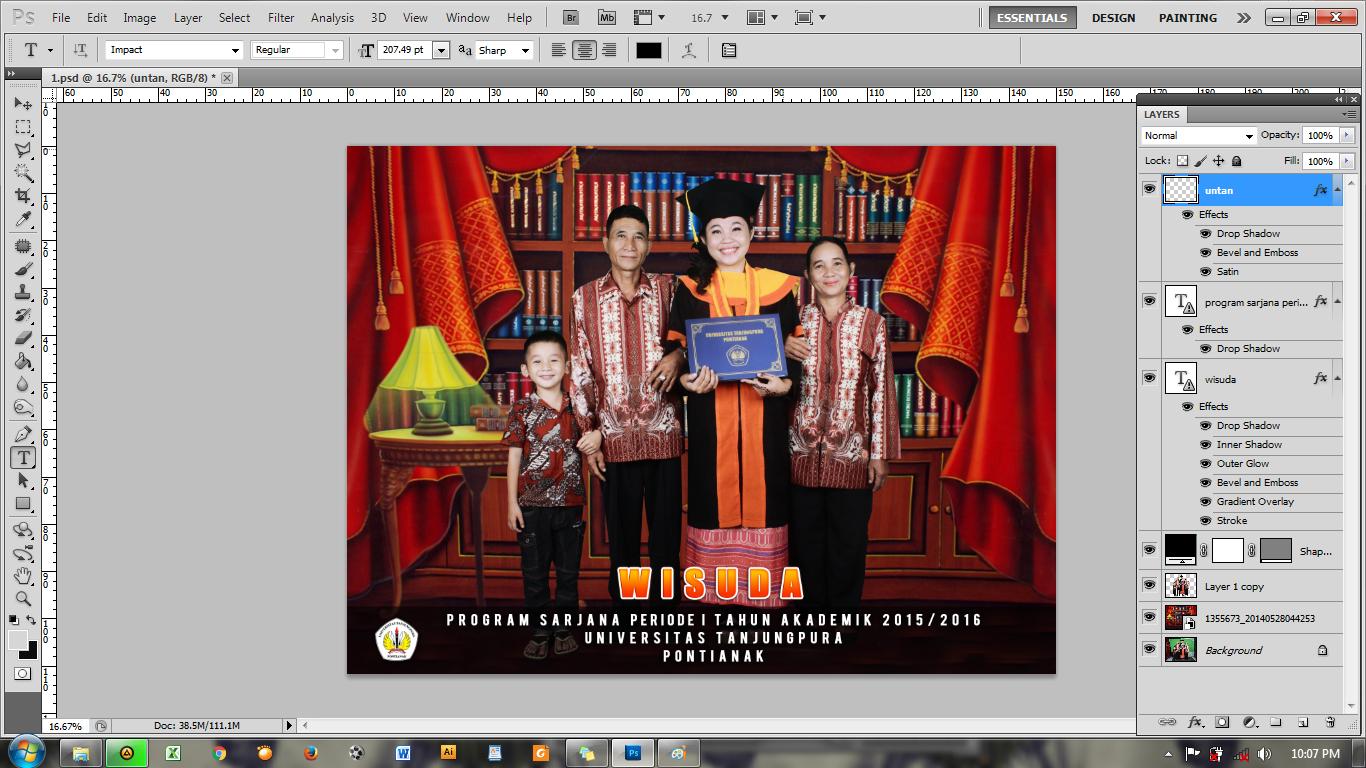 Tutorial Cara Membuat Background Foto Wisuda | Prialangka