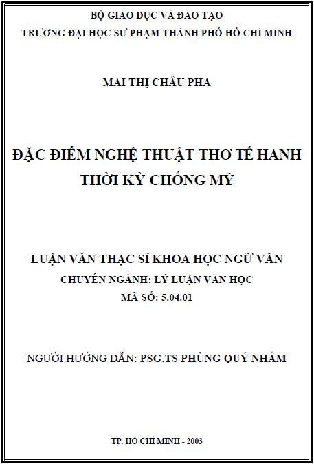 Đặc điểm nghệ thuật thơ Tế Hanh thời kỳ chống Mỹ
