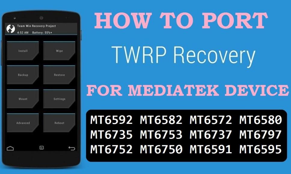 Cara Porting TWRP Mediatek ( TANPA PC ) - Without PC