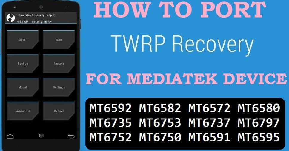 Cara Porting TWRP Mediatek ( TANPA PC ) - Without PC