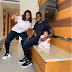 Caption the picture of Kenneth Omeruo with his wife(Chioma) and their daughter(Chairein)