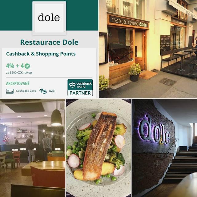 Cashback World - restaurace Dole, Praha - Bubeneč