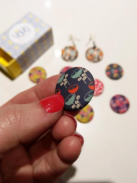 badge à motifs pour boucles d'oreilles customisables