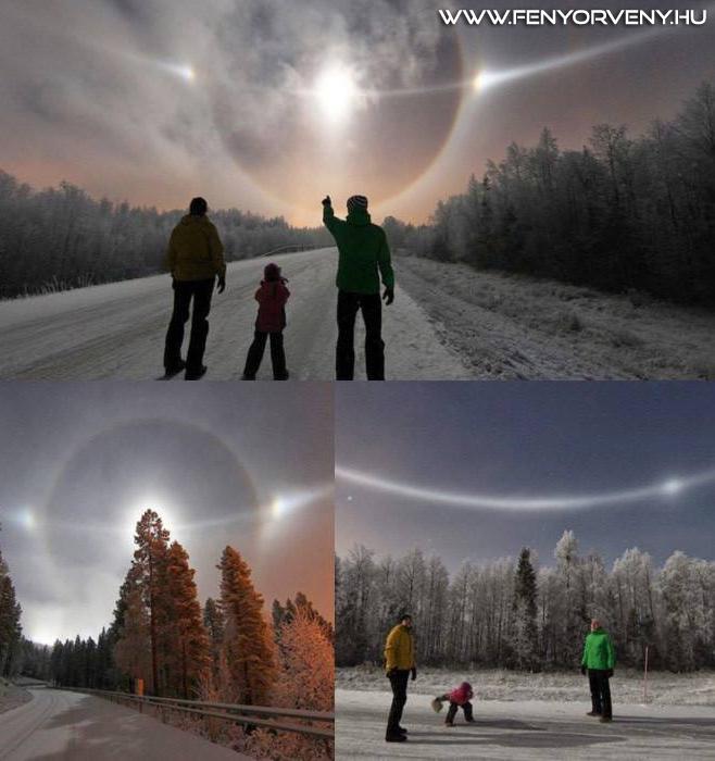 Gyönyörű Nap-halo jelenség Finnországban