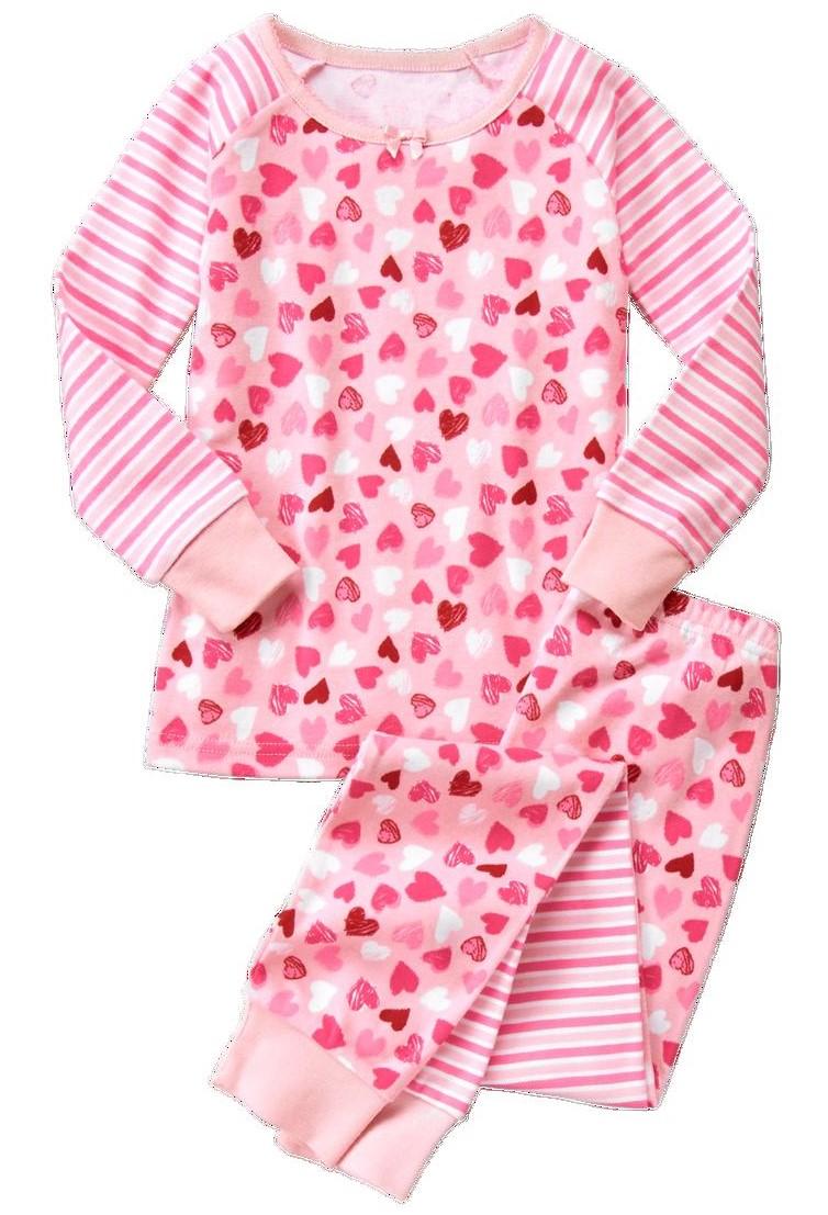 heart 2 piece gymmies - Valentines Day Pajamas