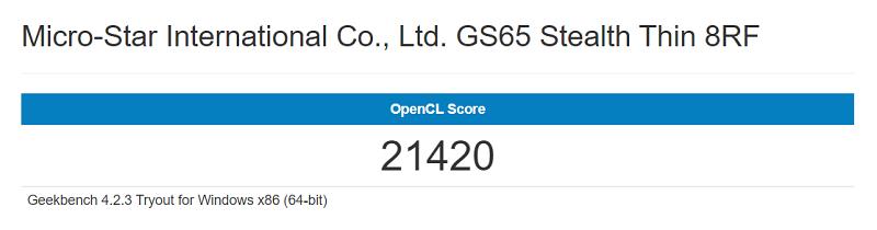 Geekbench score