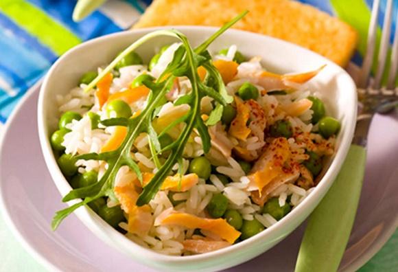 Salade De Riz Aux Petits Pois Et Au Haddock