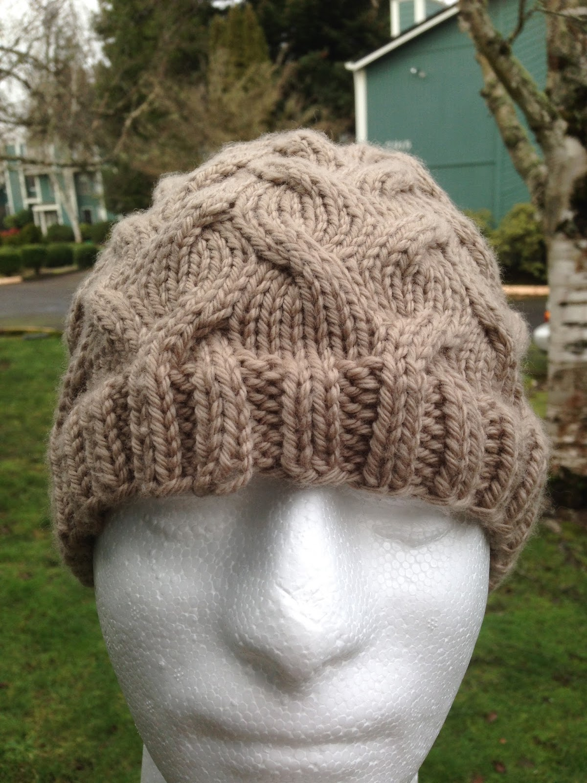 56Stitches: Wandering Cables Beanie
