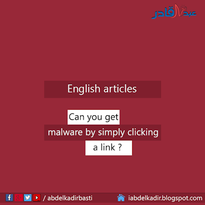 Can you get malware by simply clicking a link ?
