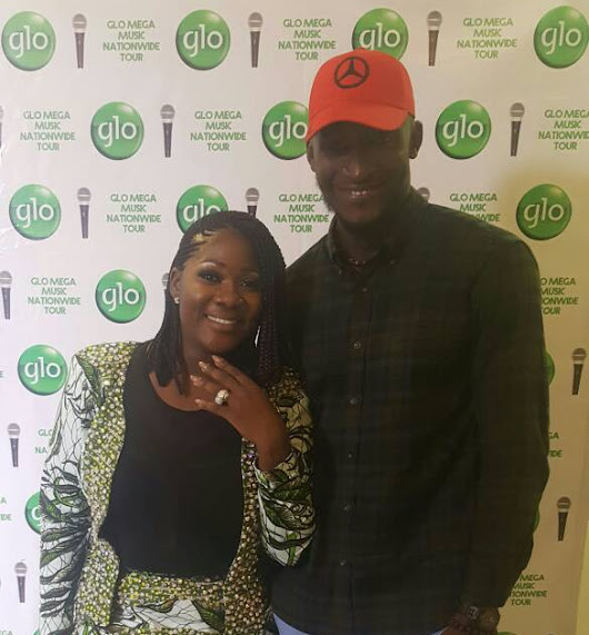 Mercy Johnson Meets Model Adams Abasiono, Gushes About His Height