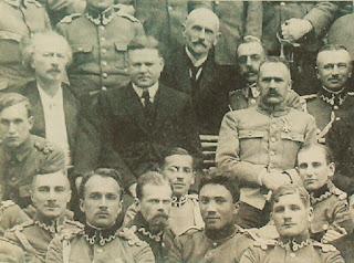 Ignacy Paderewski, Herbert Hoover, Józef Piłsudski w Belwederze - 1919