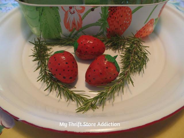 paper mache strawberries