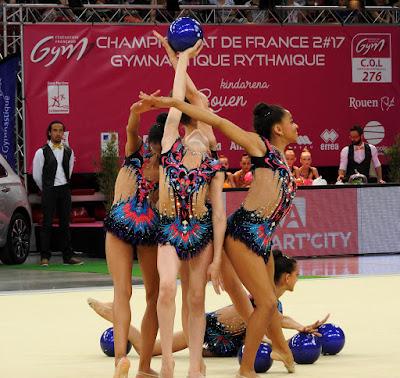 ROUEN. Championnat de France de gymnastique rythmique et sportive. Le spectacle était autant dans les tribunes que sur le praticable.