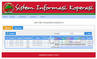 Free Download PHP Source Code Sistem Informasi Koperasi