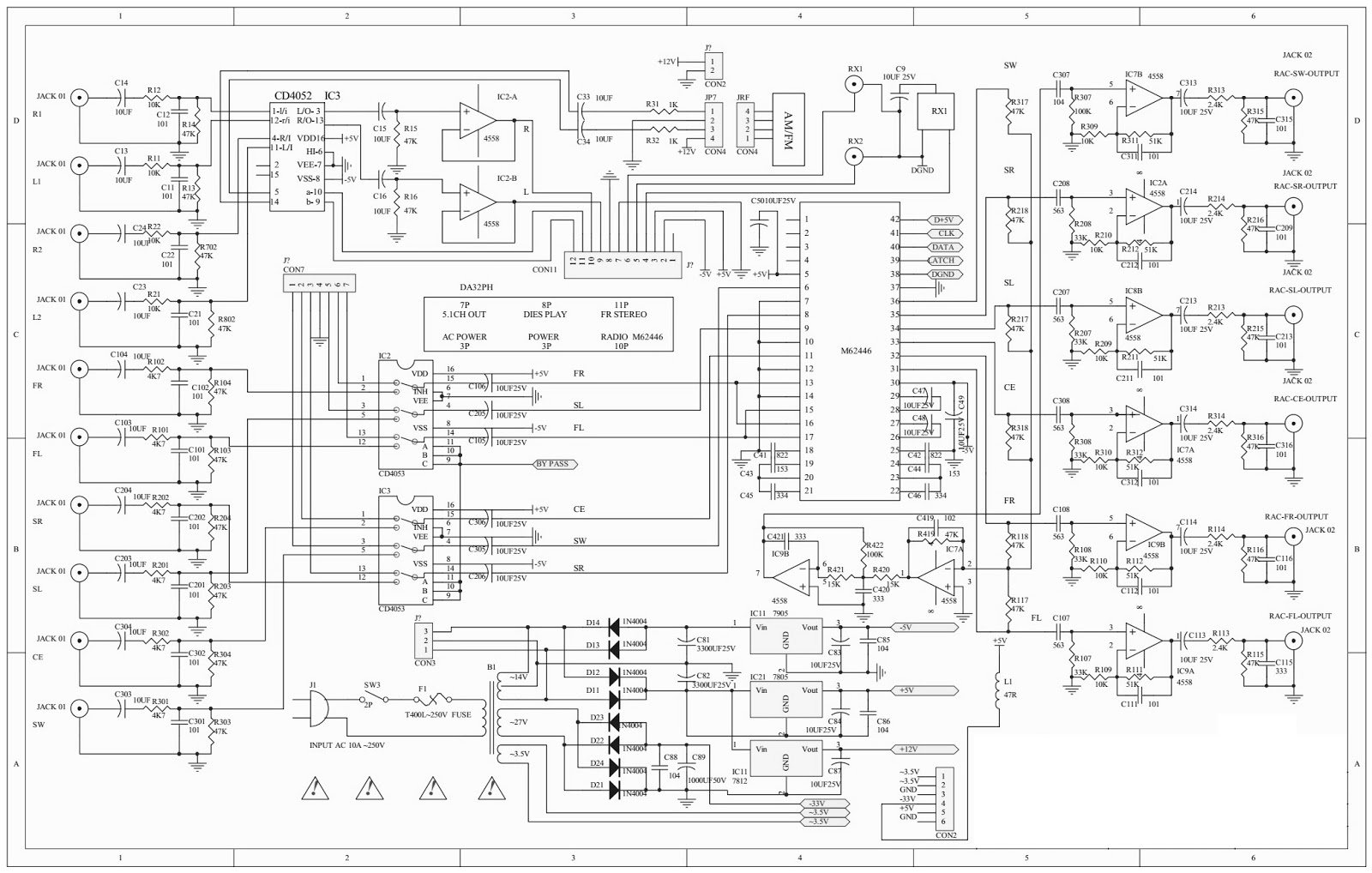 Microlab Ah500 Hts Circuit Diagram on transistor schematic diagram