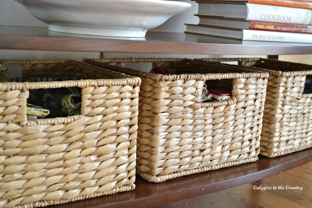 Seagrass Baskets for Napkin Storage