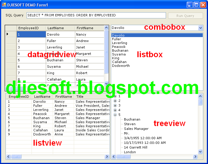Cara Add Items/Retrieve/Load Data Ke Datagridview, Listview