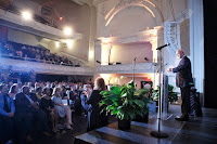 "New Orleans Mayor Mitch Landrieu delivers his annual ""State of the City"" address at the Civic Theatre in downtown New Orleans on Thursday, July 6, 2017. (Photo by Chris Granger, NOLA.com 