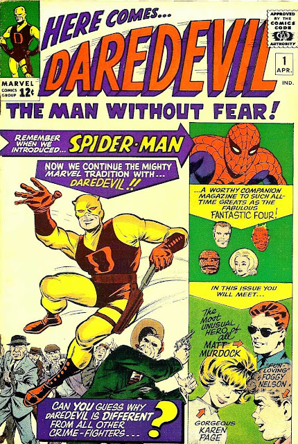 Daredevil v1 #1, 1964 Marvel silver age comic book cover
