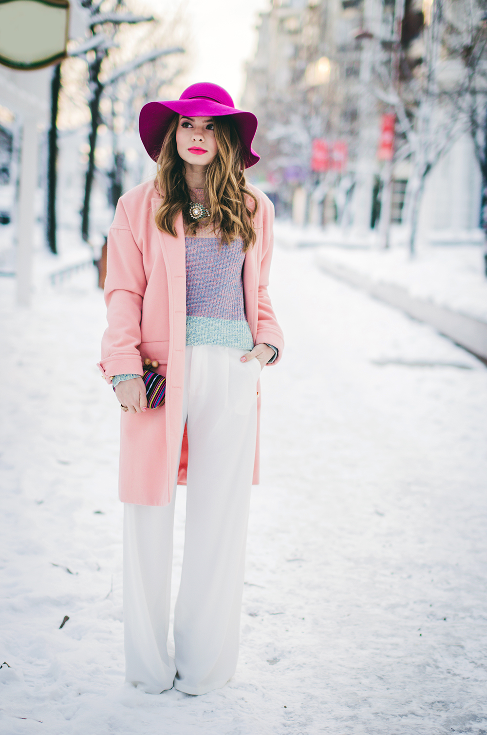 Color-Block By FelyM.: WINTER TREND: WHITE PANTS
