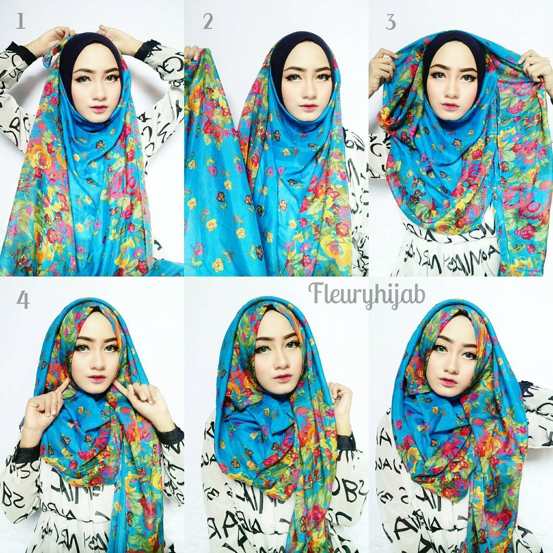 Tips Tutorial Hijab Pesta Dan Pasminah Simple Serta Elegan Tips