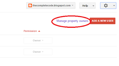 Manage property owners for website