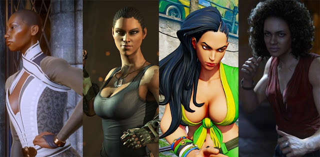 black female video game characters