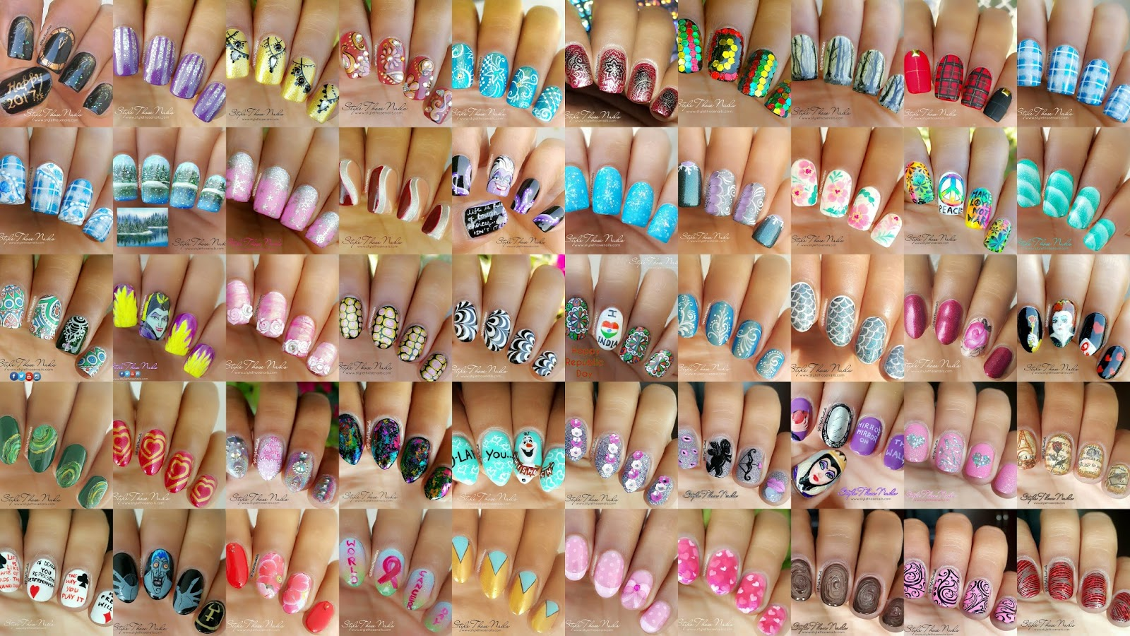 Style Those Nails: 50 nail designs - nailart compilation of 50 days ...
