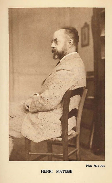 31) Man Ray, Portrait of Henri Matisse, 1922, (from Propos d'Artistes, page  121)