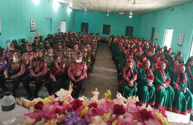 Ansar and VDP upazila rally in Palashbari of Gaibandha 2018