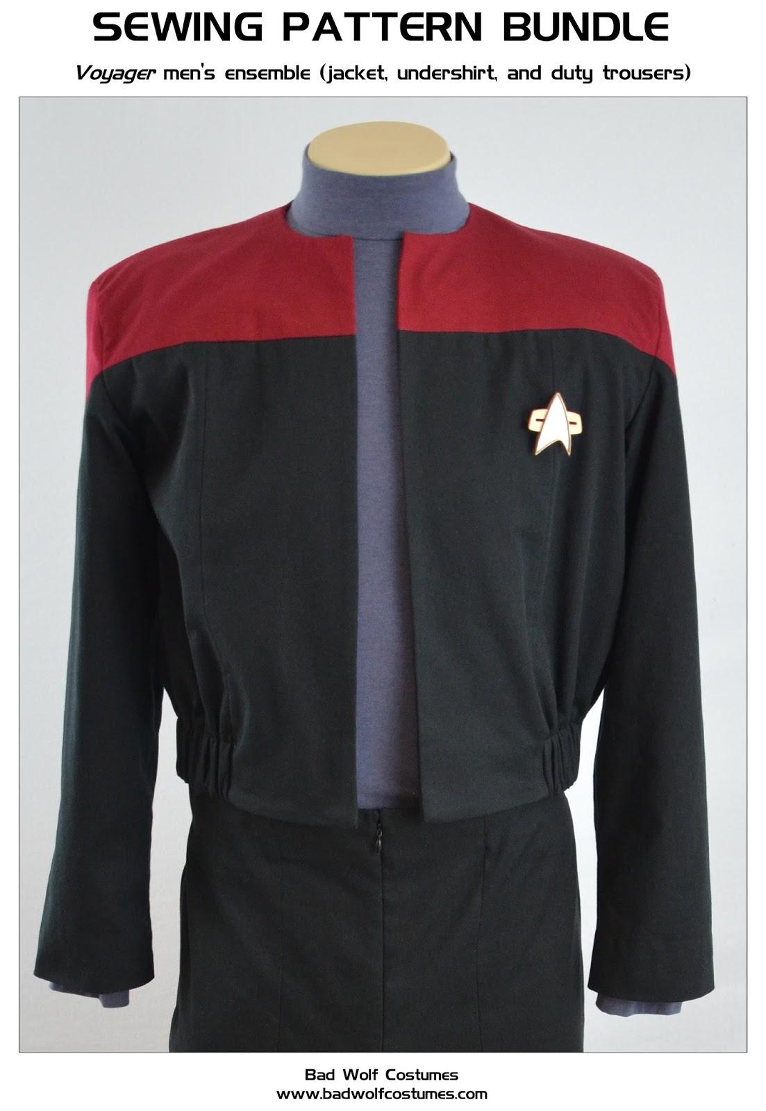 Bad Wolf Costumes: Star Trek: Voyager Uniform Bundle