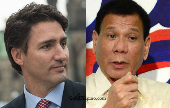 Canadian Prime Minister Trudeau brought up something to President Rody Duterte