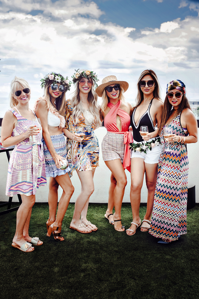 Chicago Bloggers, Pool Party Style, Girl Squad Style