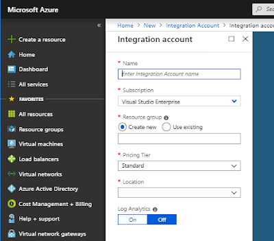 Creating Integration Account