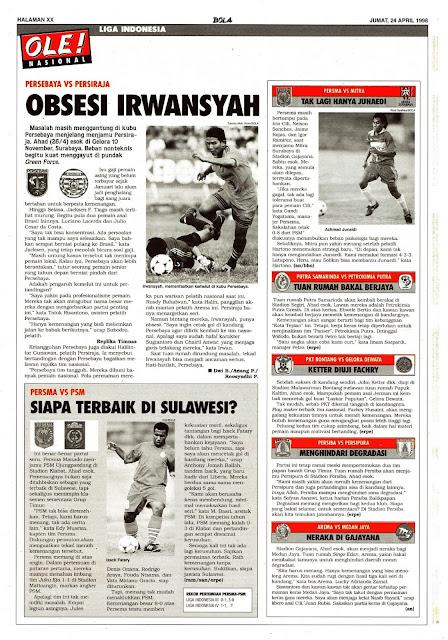 LIGA INDONESIA V PERSEBAYA VS PERSIRAJA OBSESI IRWANSYAH