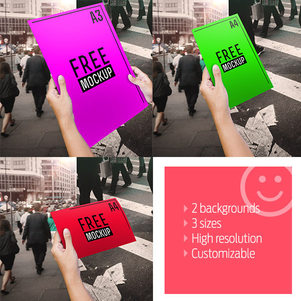 Download Poster Mockup PSD Terbaru Gratis - Photorealistic Flyer Mockup