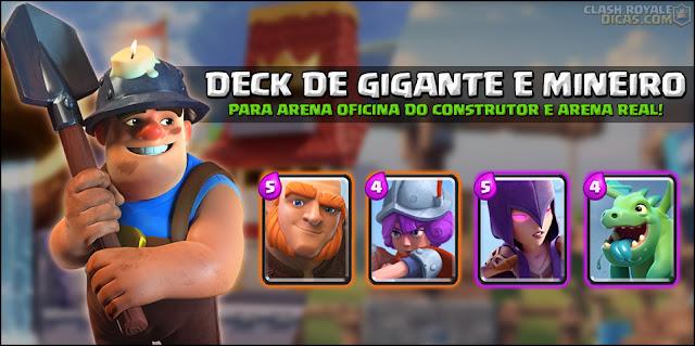 Deck para Arena 7 com Gigante, Mineiro e Bebê Dragão - 1