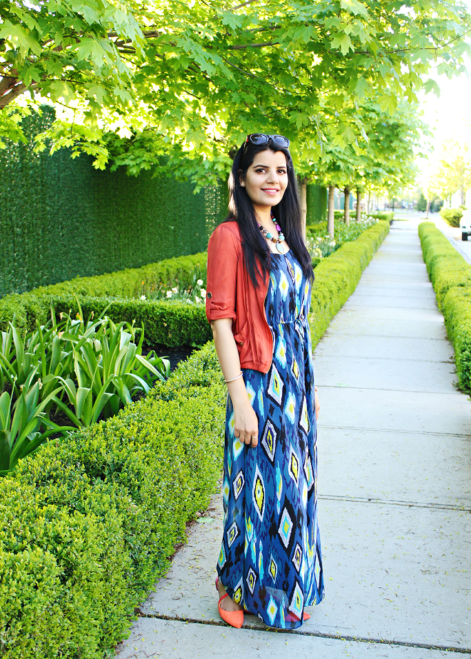 Ikat print maxi, How to style a maxi dress, Summer Outfit ideas, Zara flats