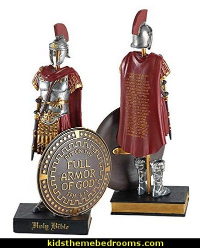 Armor Of God Roman Soldier  Jesus for kids - Bible Stories wall murals - Christian Bible Verse wall decal stickers - Christian home decor - bible verse wall art -  inspirational bedding - Christian bedding - Christian kids toys - Lion and Lamb toddler beds -  bible stories for kids - Christening Baptism Gifts - Psalm bedding - Scripture throw pillows - bible verse throw pillows -  Vacation Bible School Decorations