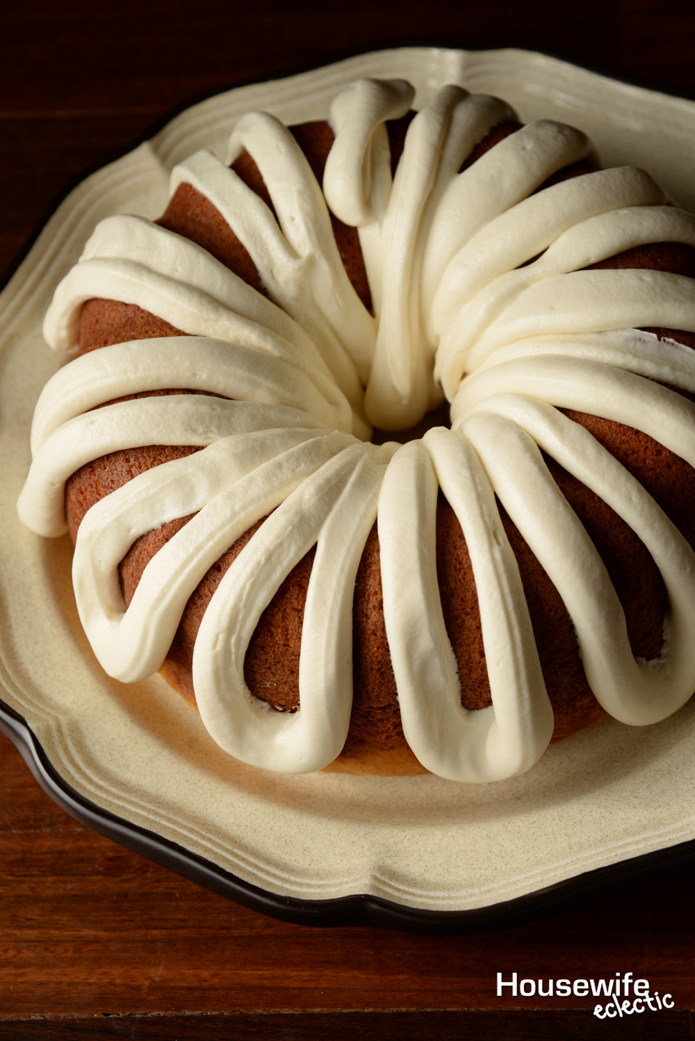 White Chocolate Bundt Cake With Whipped Cream Cheese