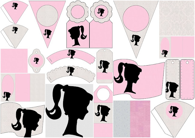 Barbie Silhouette Free Party Printables Images And Papers