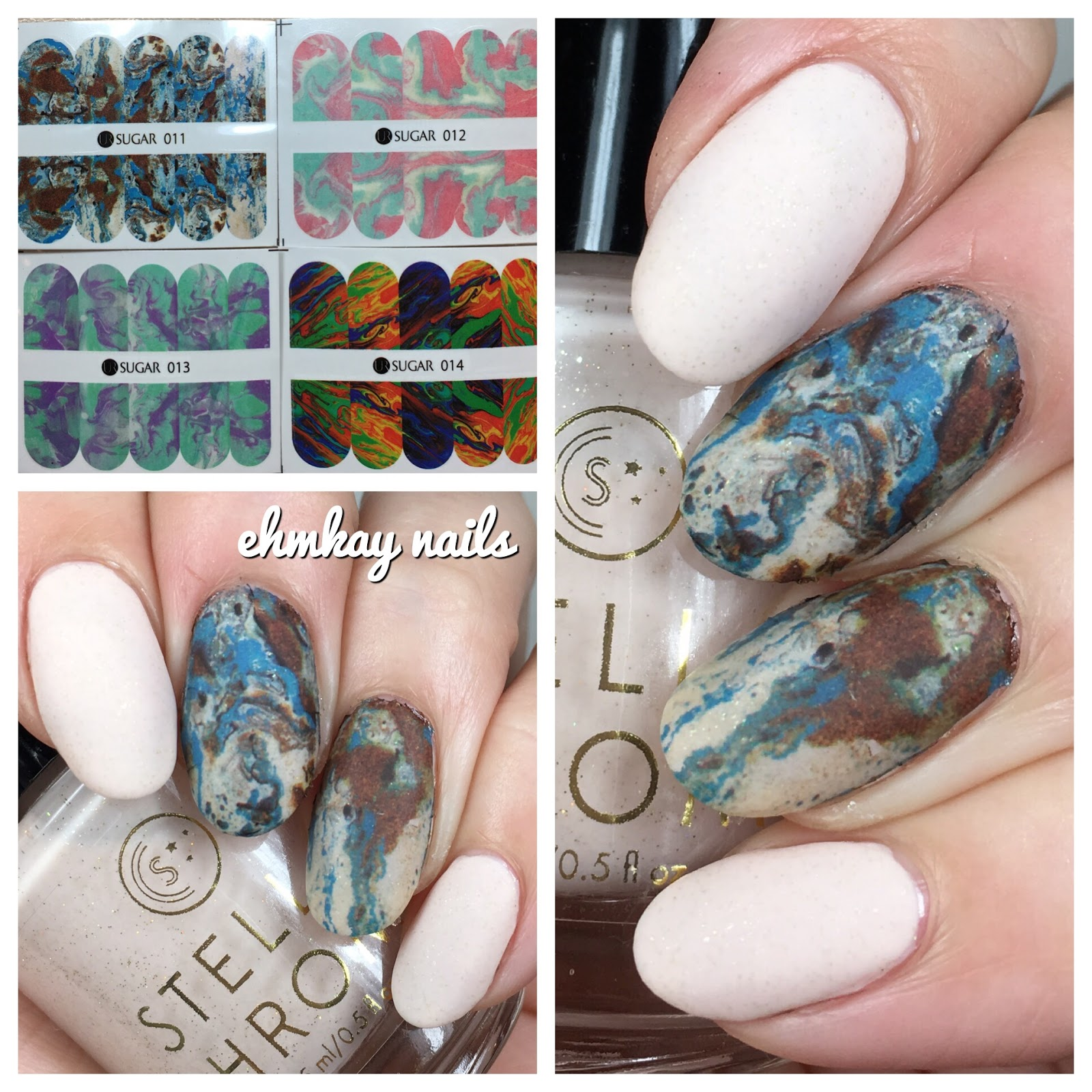 ehmkay nails: Alabaster Nail Art with Born Pretty Water Decals