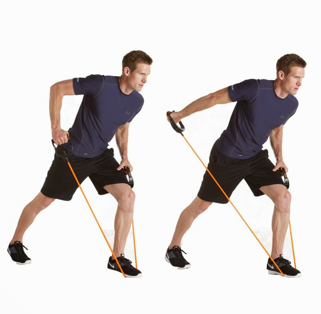 Fitness Without The Gym.: Arm Exercises With Resistance Bands