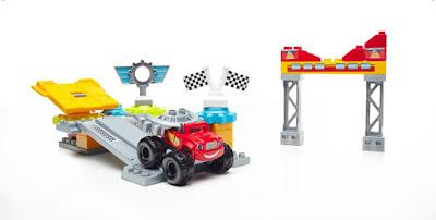 TOYS : JUGUETES - MEGA BLOKS Blaze y los Monster Machines Garaje de Ciudad Axle | Taller Mecánico Axle City Garage Producto Oficial Serie Clan 2016 | Mattel DPH77 Edad: +3 años | Piezas: 35 Comprar en Amazon España