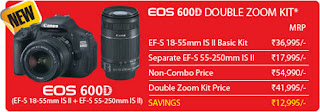 EOS 600D Double Zoom Kit