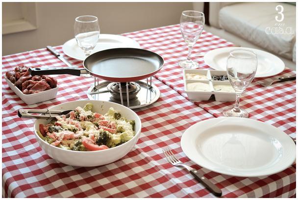 mesa posta almoço